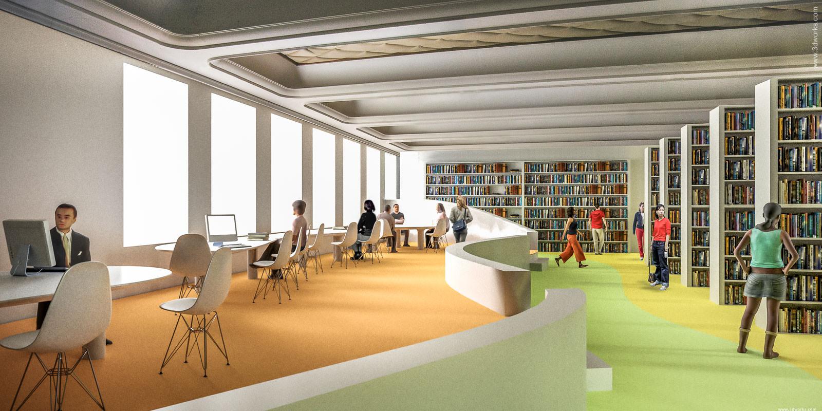 3D Visualisierung, Wettbewerbsperspektive / Magma Architekten