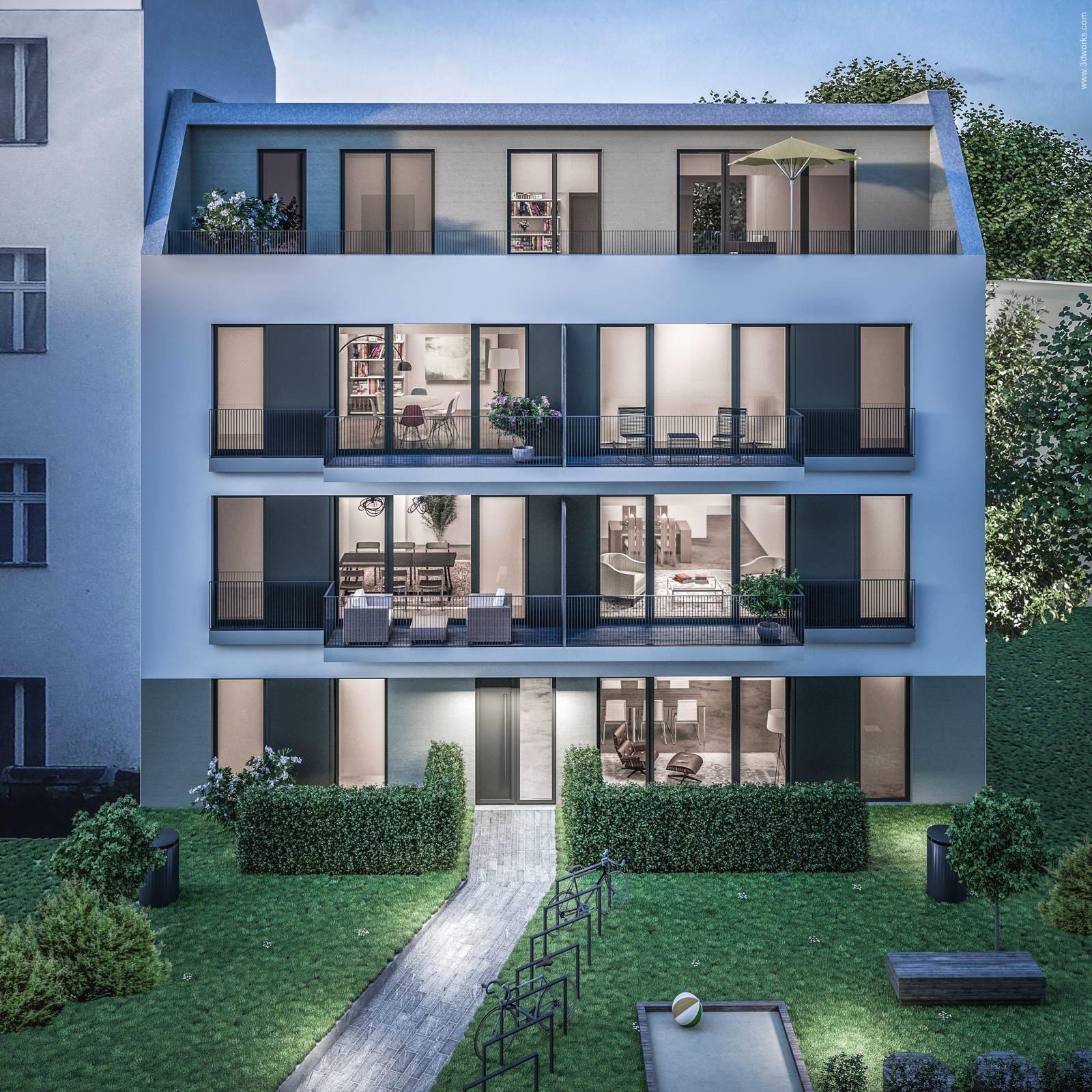 Architekturvisualisierung eines Bauvorhabens in Berlin - Kai Schreiber Architekt