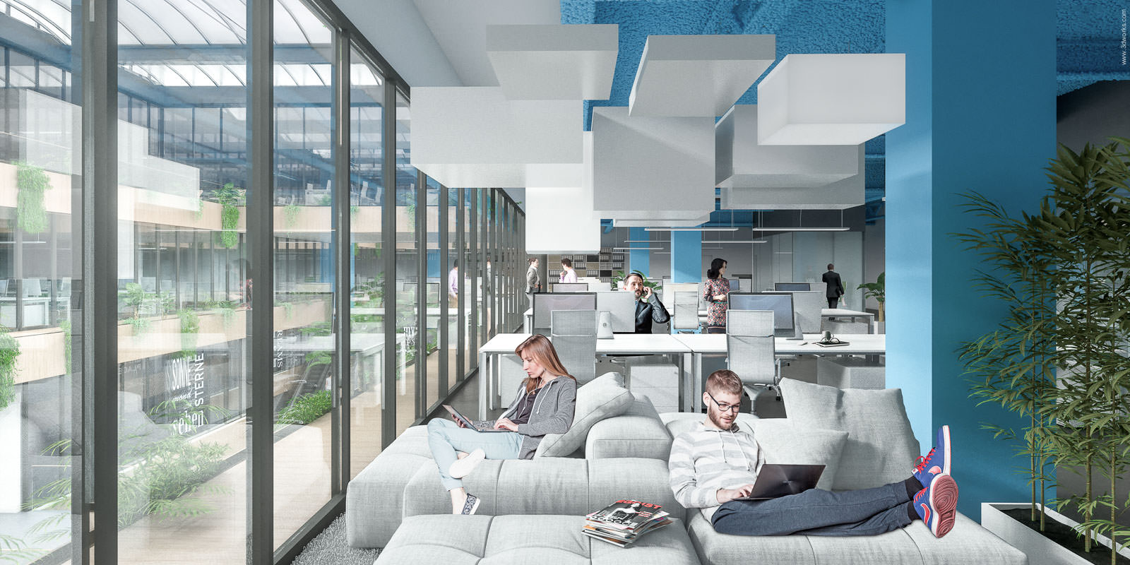Forum Steglitz / Office Interior - Aukett Heese