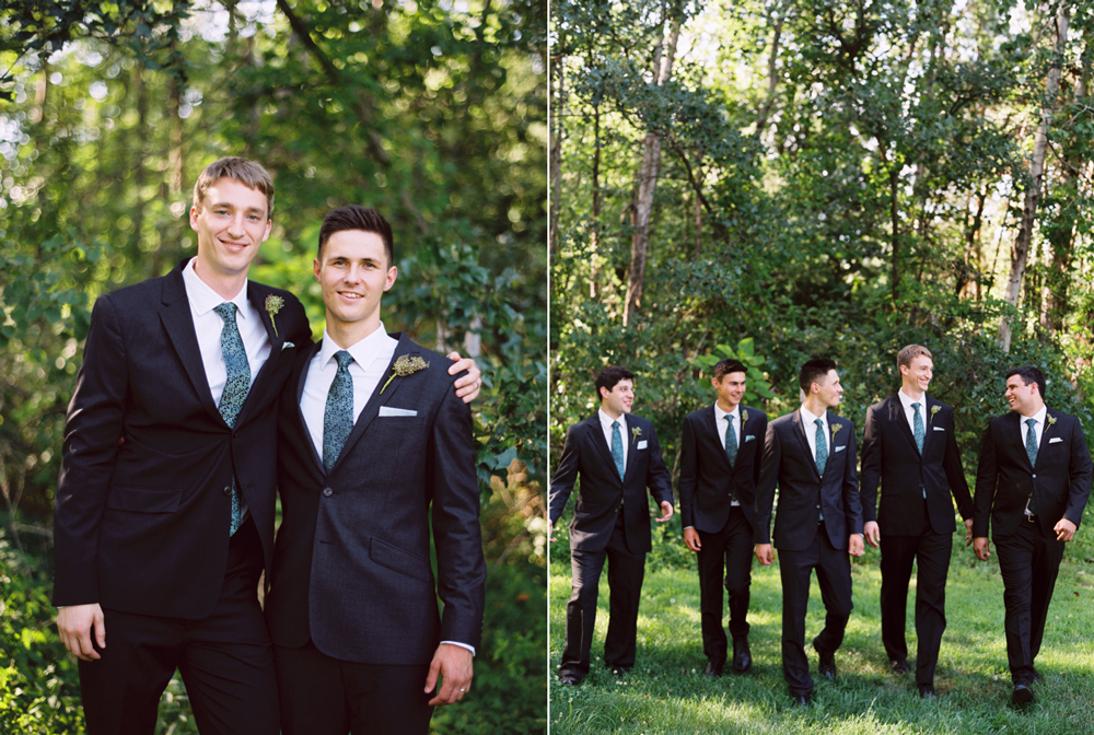 Elegant and unique bridal party