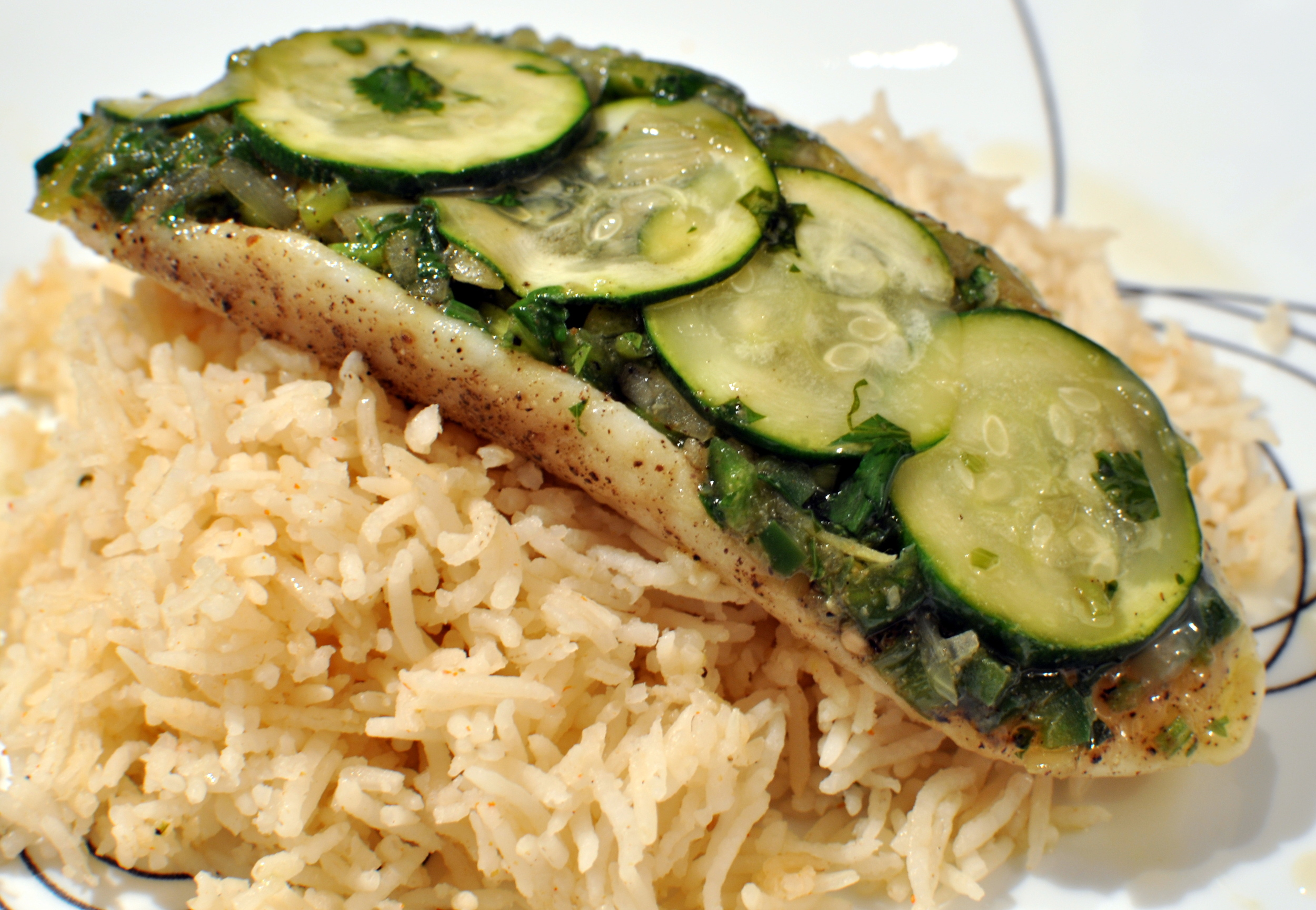 parchment paper fish - green edition