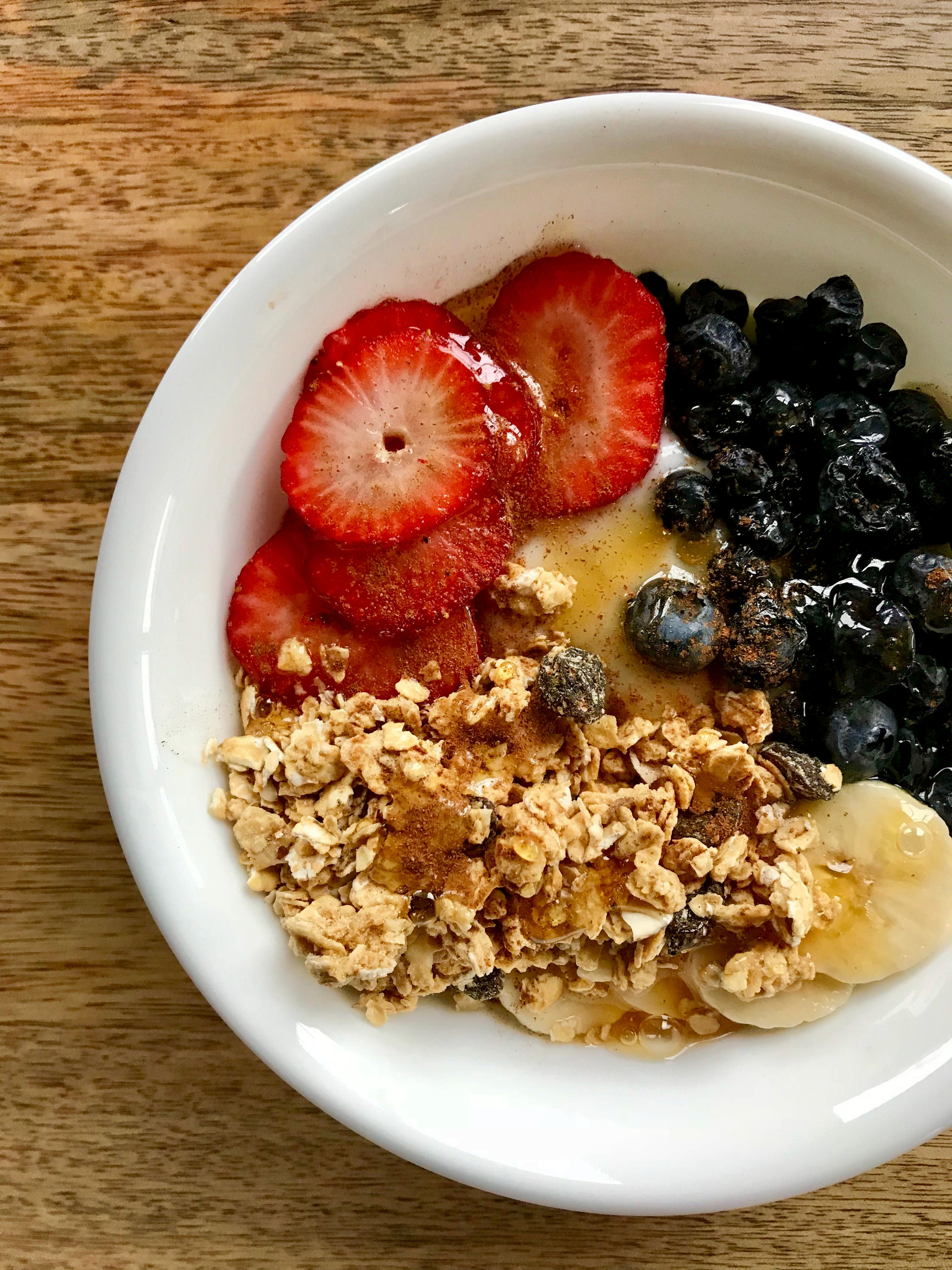Fruit and granola yogurt bowl