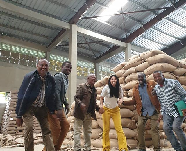 Happy Coffee Preshipment Checking day in Addis 💖💗😄 We are so excited to work with Single farmers in Ethiopia💖💗💖💗💖💗 5 out 35 Jabando Farmers Group with G Board came to deliver coffee💖💗💖💗💖💗🍒🍑🍓🍐🍏🍎🍓🍒
