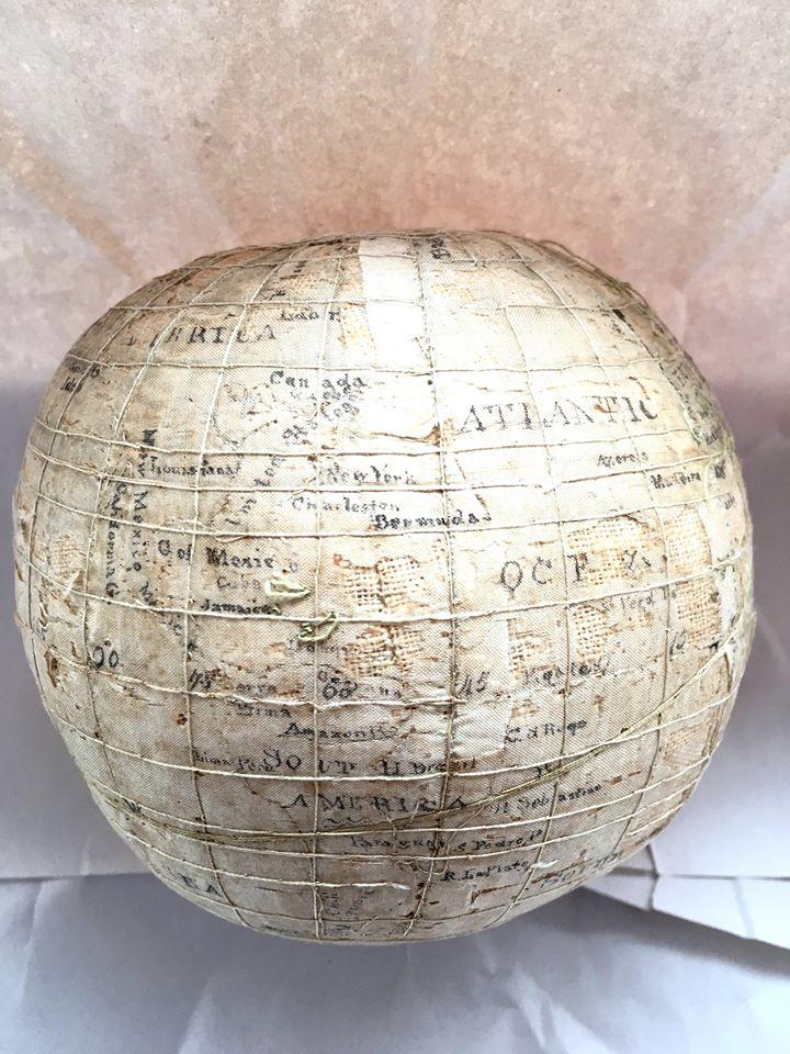 Handmade silk globe