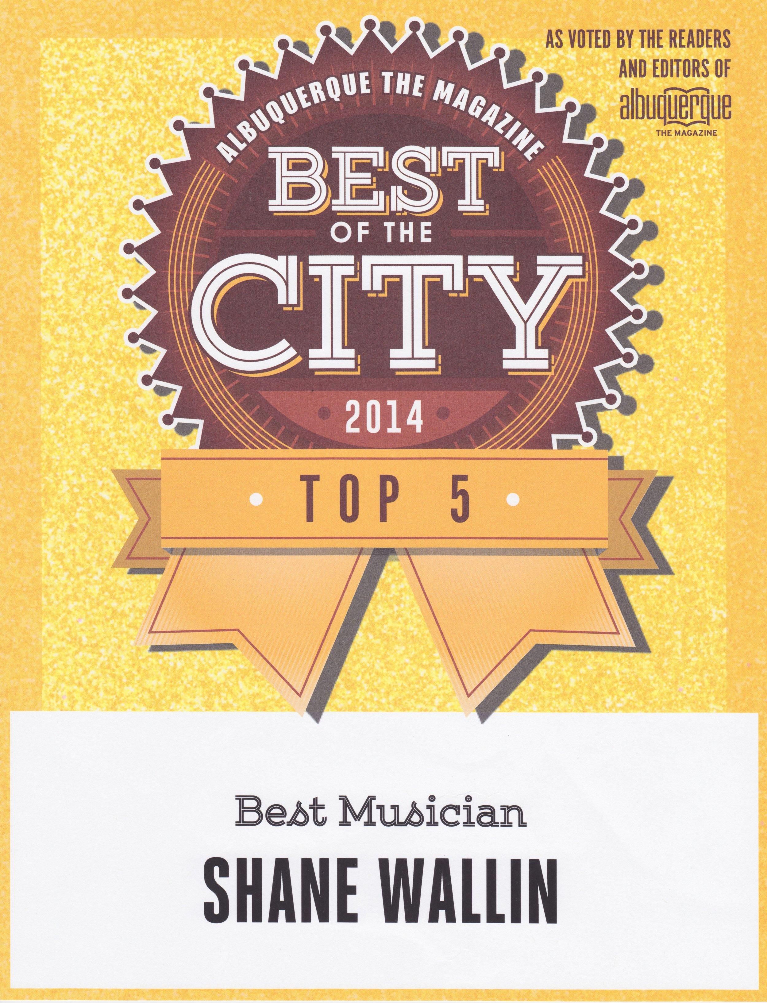 TOP MUSICIANS, NEW MEXICO, 2014. ALBUQUERQUE THE MAGAZINE.