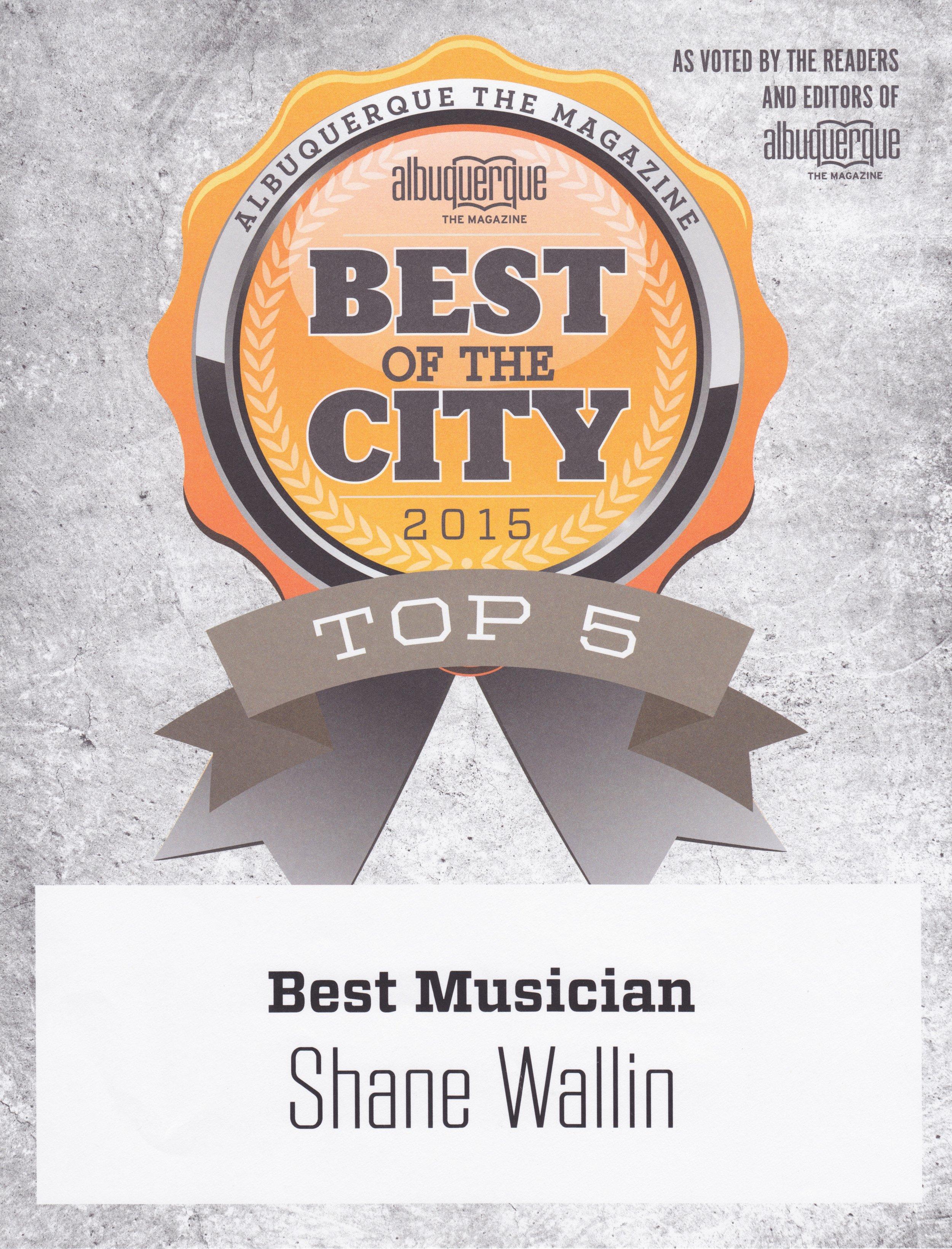 TOP MUSICIANS, NEW MEXICO, 2015. ALBUQUERQUE THE MAGAZINE.