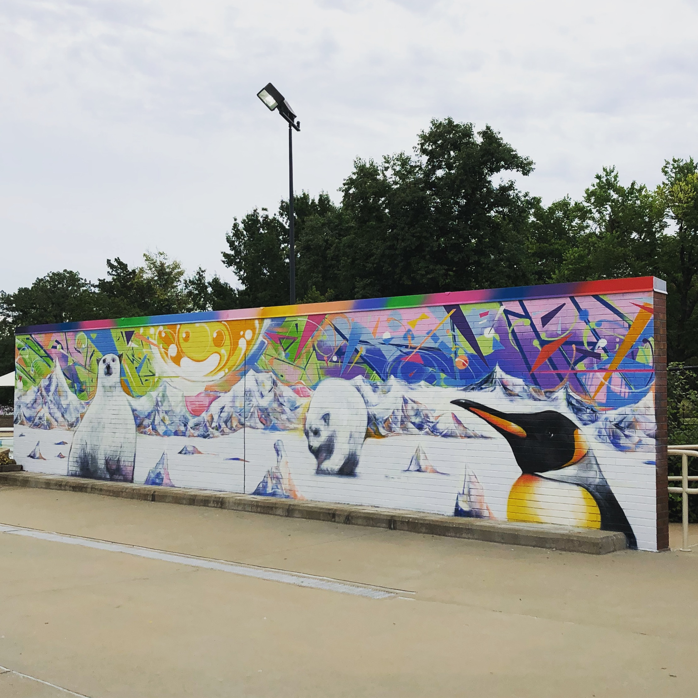 BLAISDELL POOL GAGE PARK - Painted by artists Luke Rocha & Patrick Rocha, Jr. in the summer of 2018.