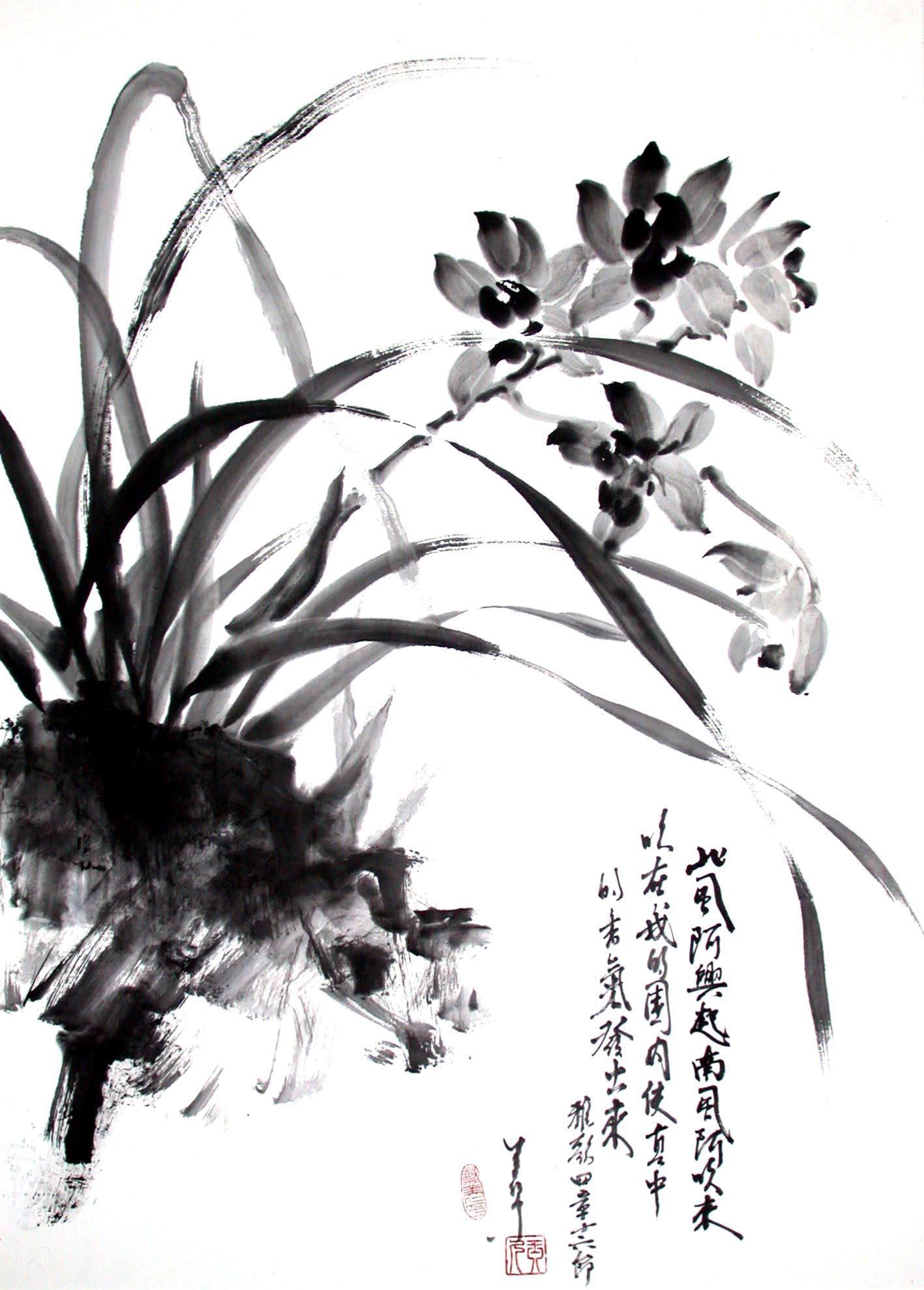 """Cymbidium in Ink"" Jean Shen"