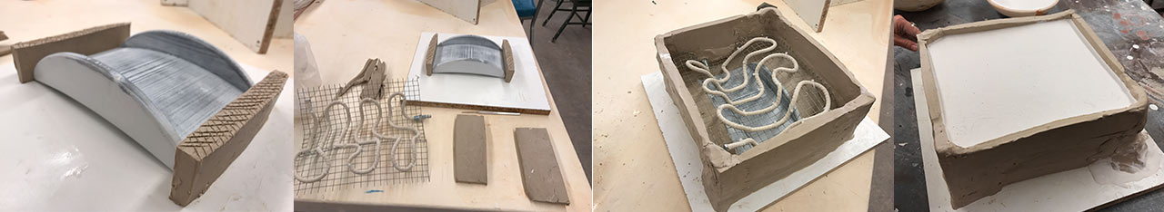 Making the mold.