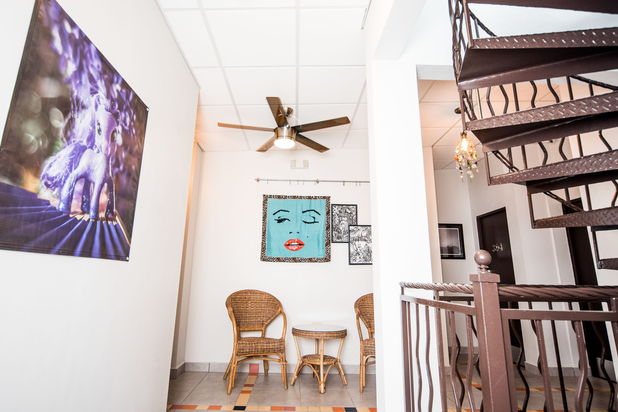 Third floor connection space and the stairway to heaven