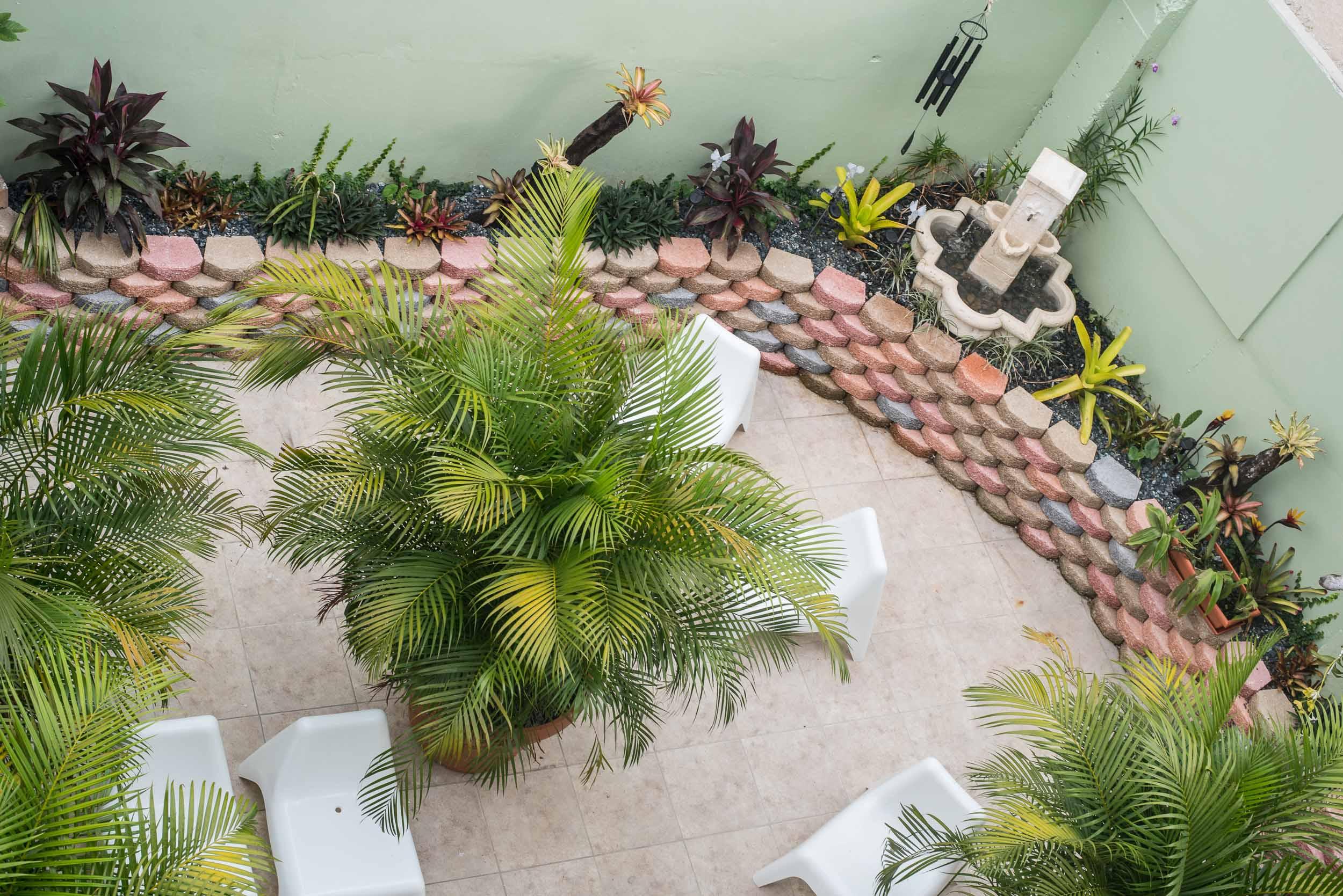 First level restorative garden and grove