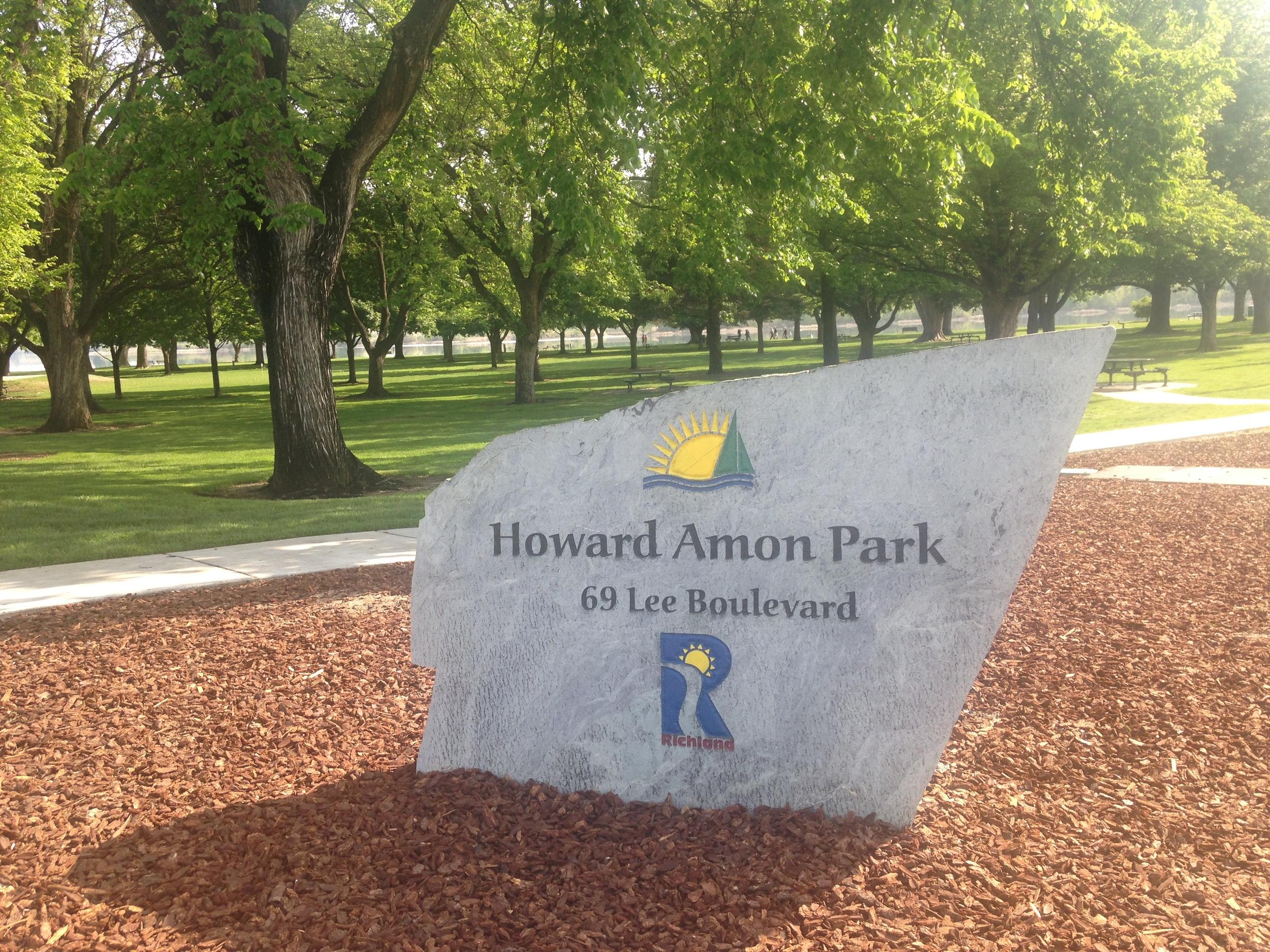 Stone in Howard Amon Park.JPG