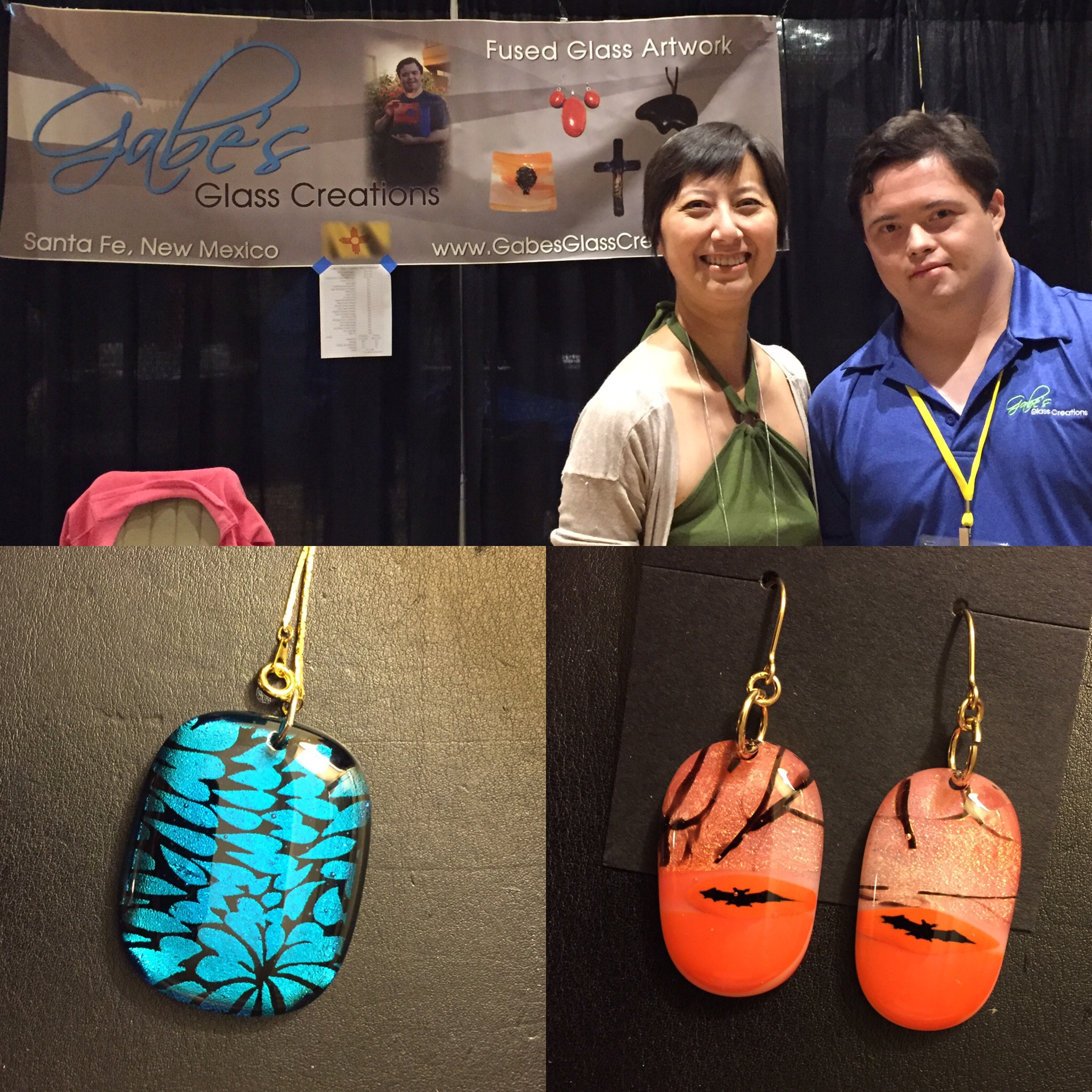 Gabe's Glass Creations  makes fused glass art in forms of crosses, dishes, jewelry, sun catchers, coasters and more.