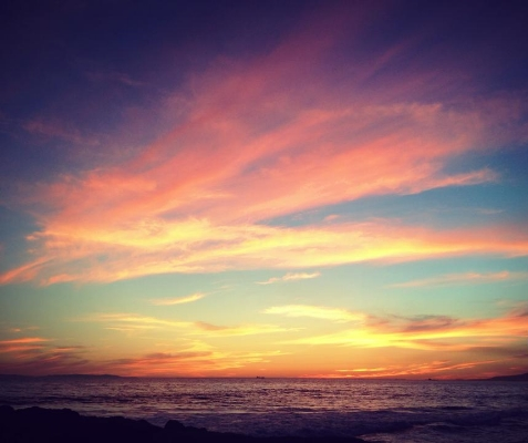 There's something to be said for those California sunsets...