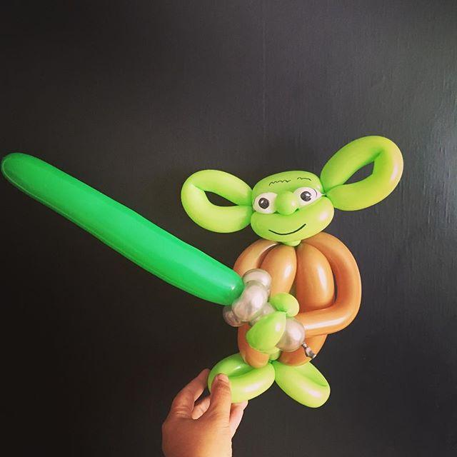 So much fun Star Wars parties are. #tuttiballooncreations #balloonart #yoda #starwars