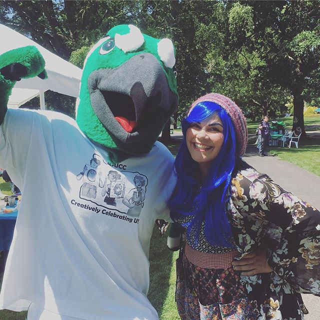 Hanging out with UCC's Riverhawk today!