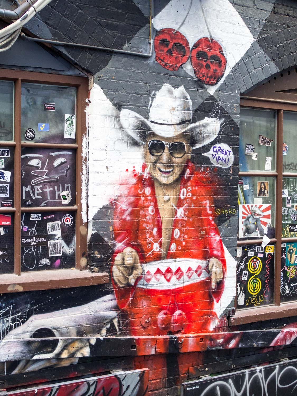 Cowboy street art, Melbourne.