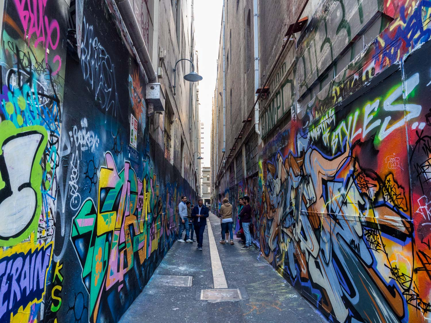 Street art on Union Lane, Melbourne. Taken with the OMD EM-10 and 12-40 f2.8 lens.