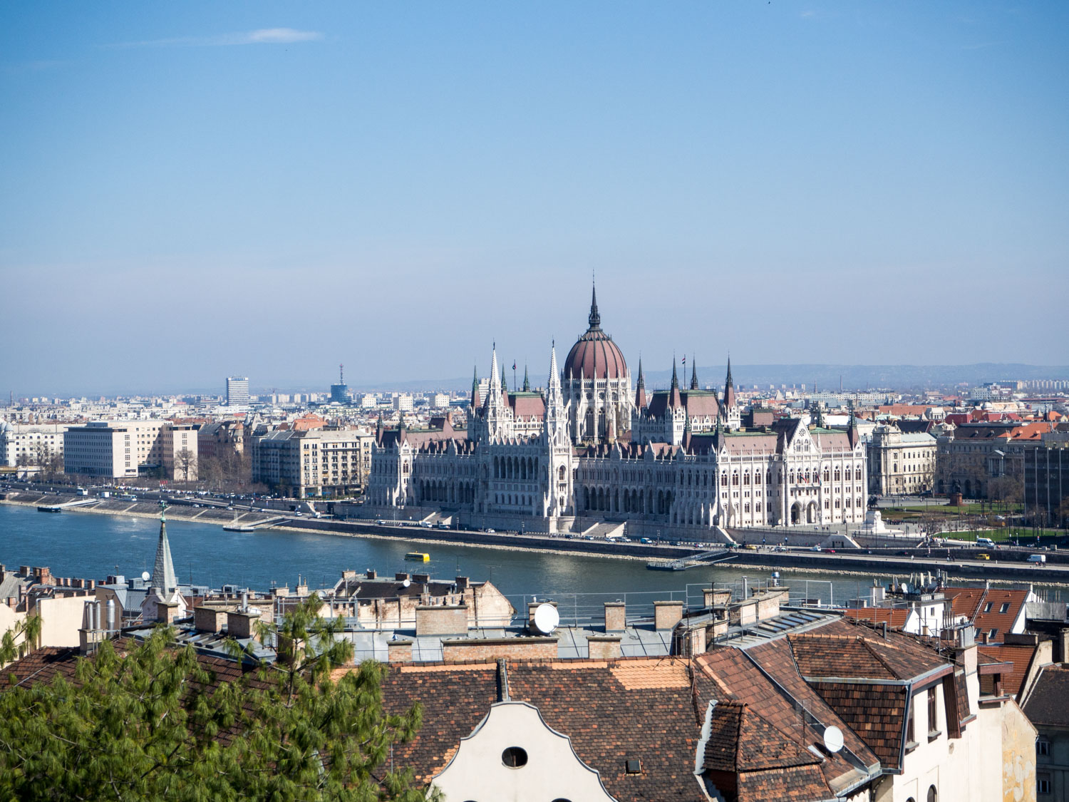 From the Buda side of the river, Hungary's Parliament looks great.