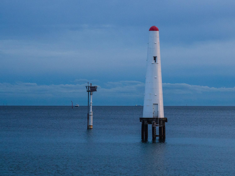 Beacon at Princes Pier, Melbourne.