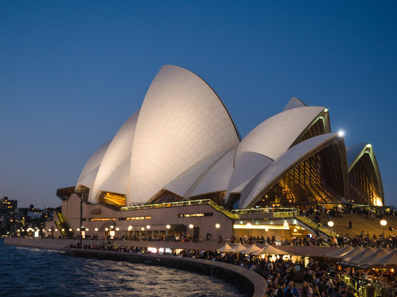 A very busy Sydney Opera House