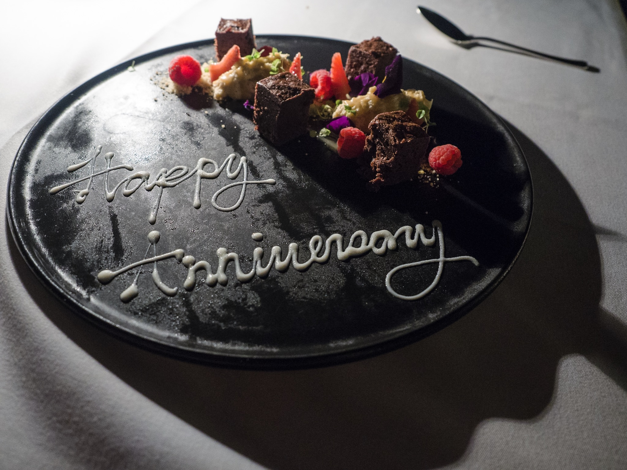 The hotel treated us on our wedding anniversary.