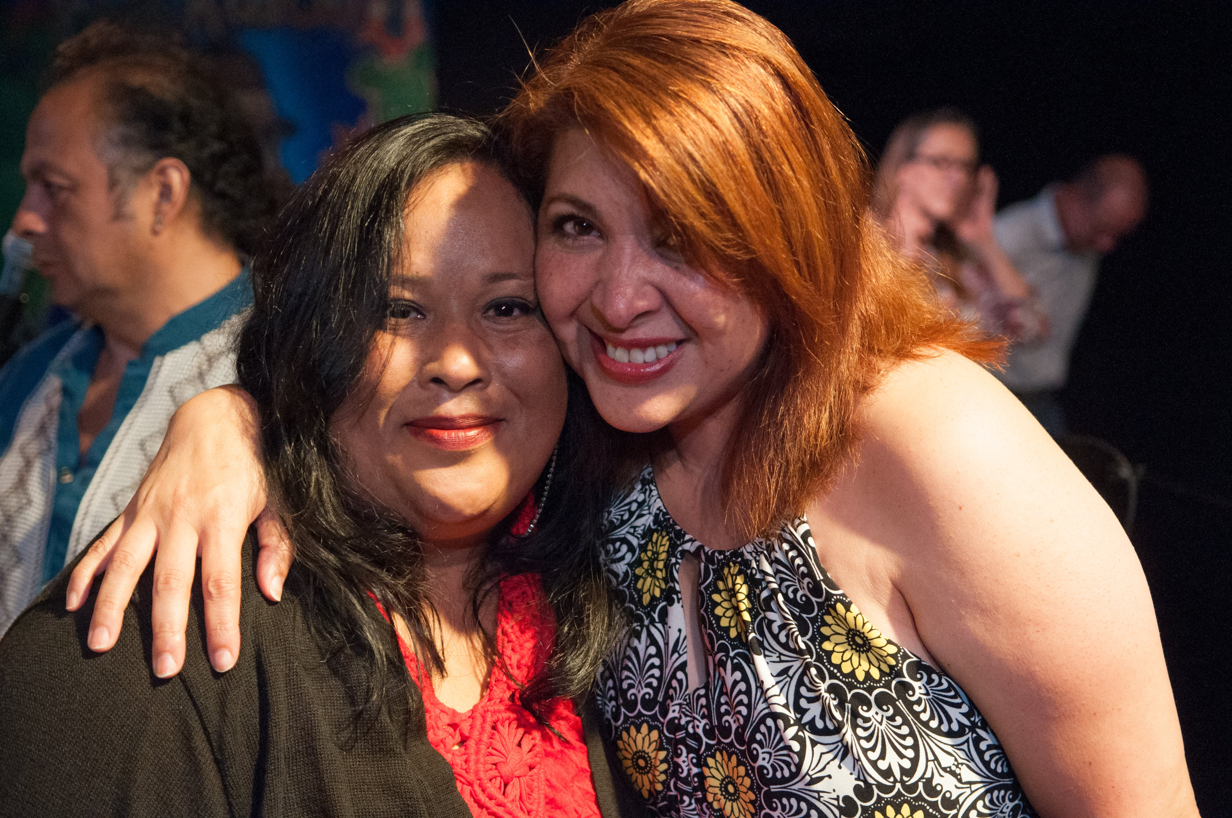 Anabertha and Nurys Herrera, the actress who performed Anabertha's story.