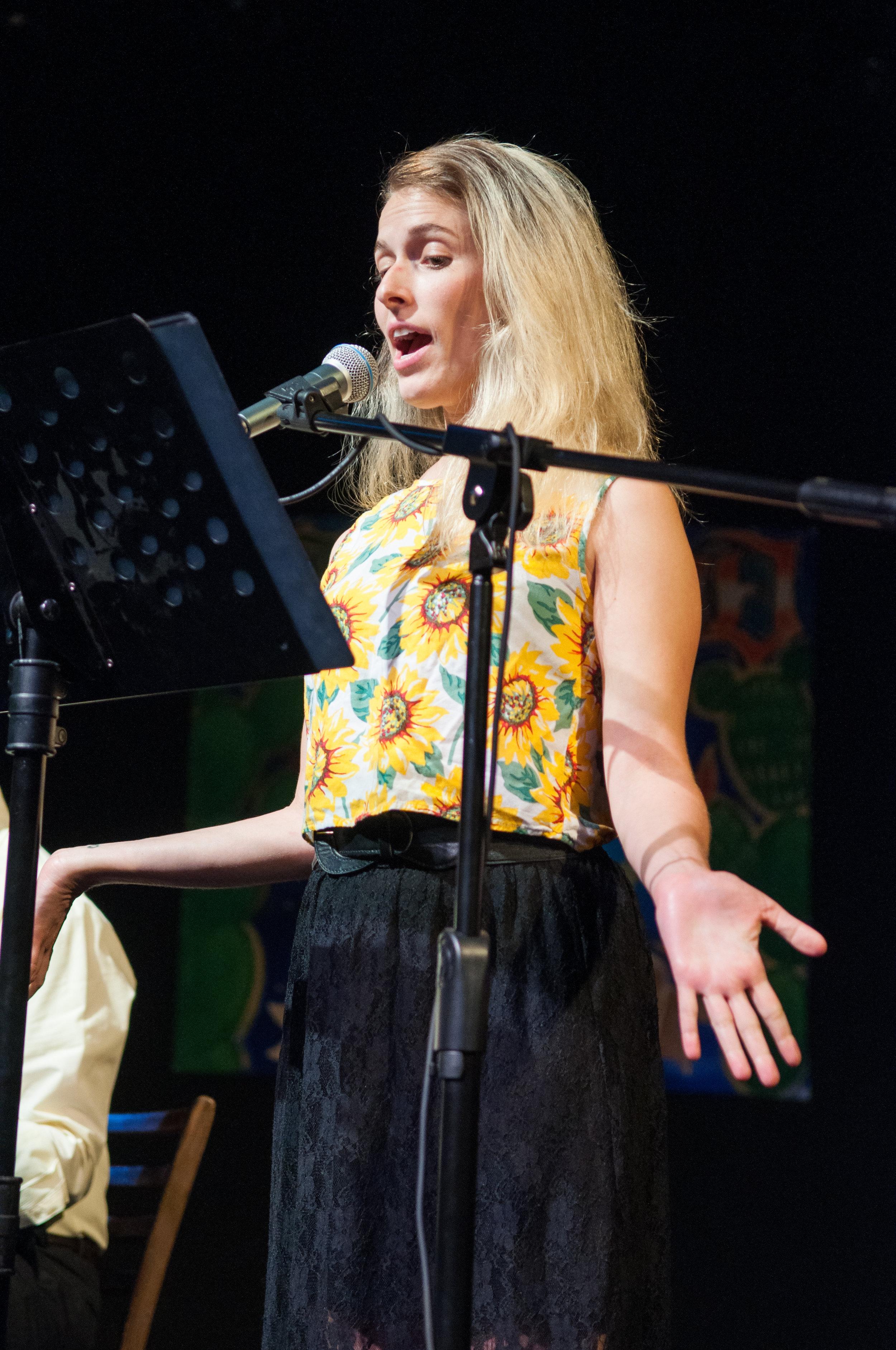 Sasha Neufeld performing Dawn Joella Jackson's story.