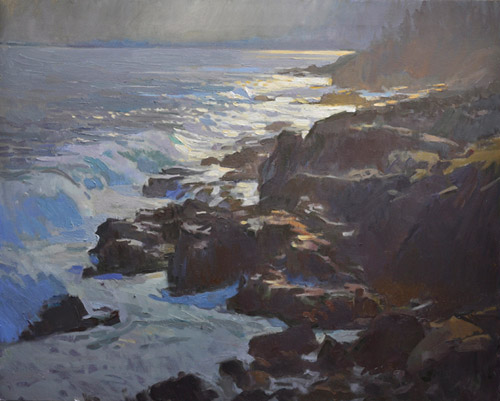 "Ray Roberts, ""Where Water Meets the Land,"" oil, 24 x 30 in. Maxwell Alexander Gallery"