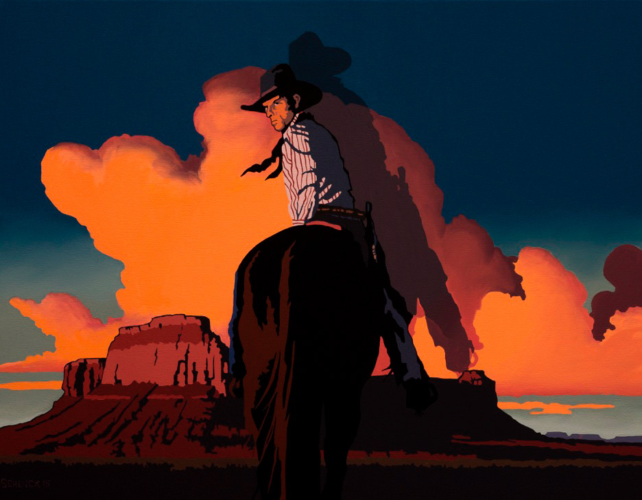 "Billy Schenck ""A Long Way Back"" 22″x28″ Oil"