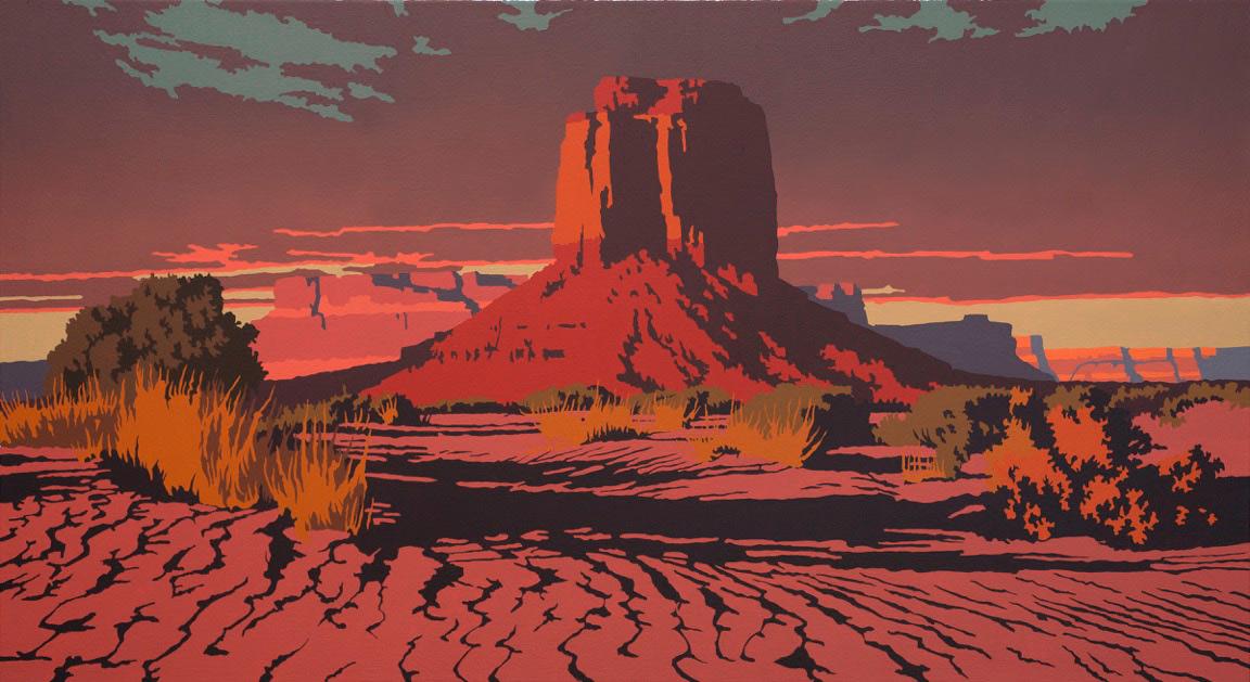 """Billy Schenck """"Quiet Evening"""" 22″x40″ Oil"""