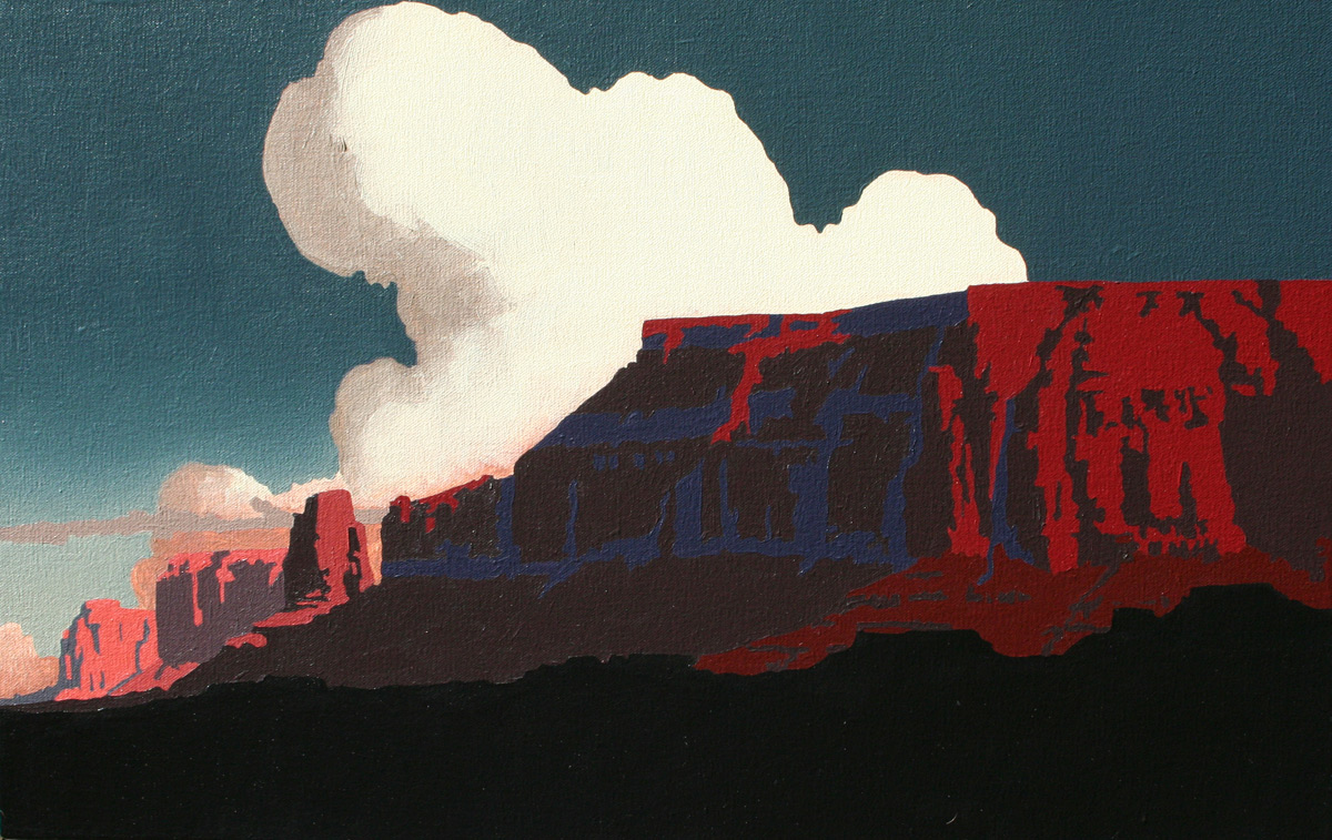 "Billy Schenck ""Mesas Far and Near"" 14″x22″ Oil"