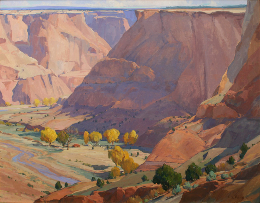 """G. Russell Case """"October in Canyon de Chelly"""" 36″x46″ Oil"""