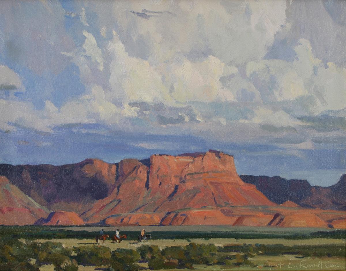 "(SOLD) G. Russell Case ""Mesa Light"" 11″x14″ Oil"