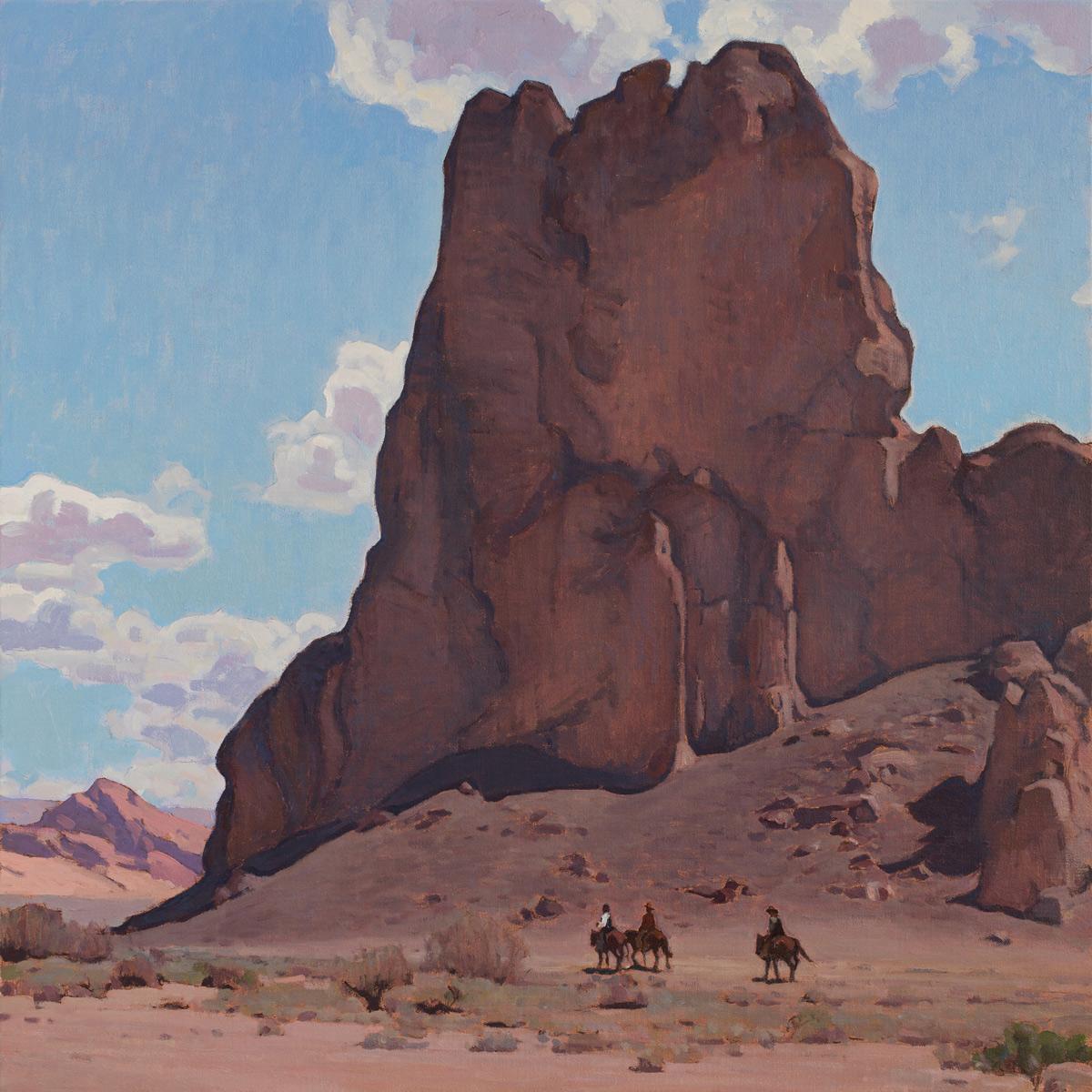 "(SOLD) Glenn Dean ""Valley Portal"" 40″x40″ Oil"