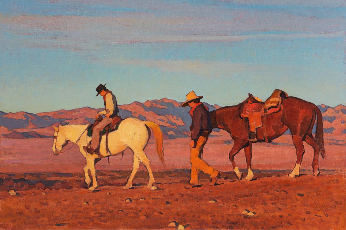 """(SOLD) Glenn Dean """"Sunset Trail"""" 20″x30″ Oil"""