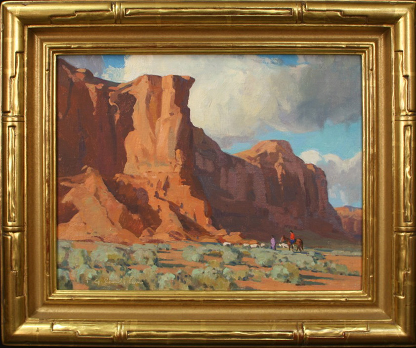 """G. Russell Case """"Along Red Moutain"""" 11″x14″ Oil"""