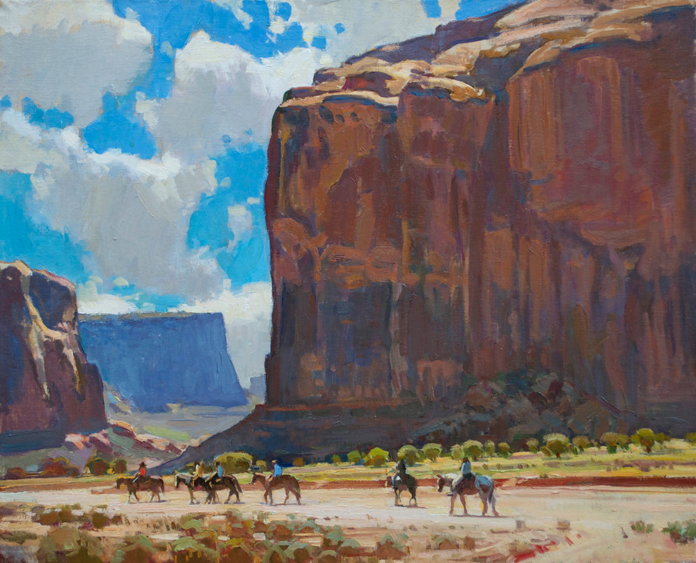 "(SOLD) Ray Roberts ""Monument Valley Riders"" 25″x30″ Oil"