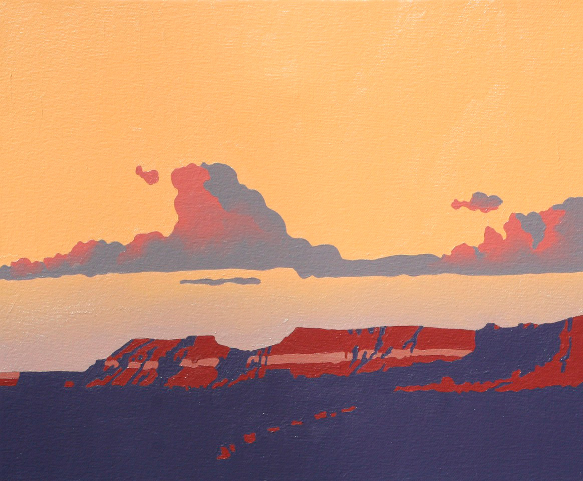 "Billy Schenck ""Mesa Cloud Study"" 10″x12″ Oil"