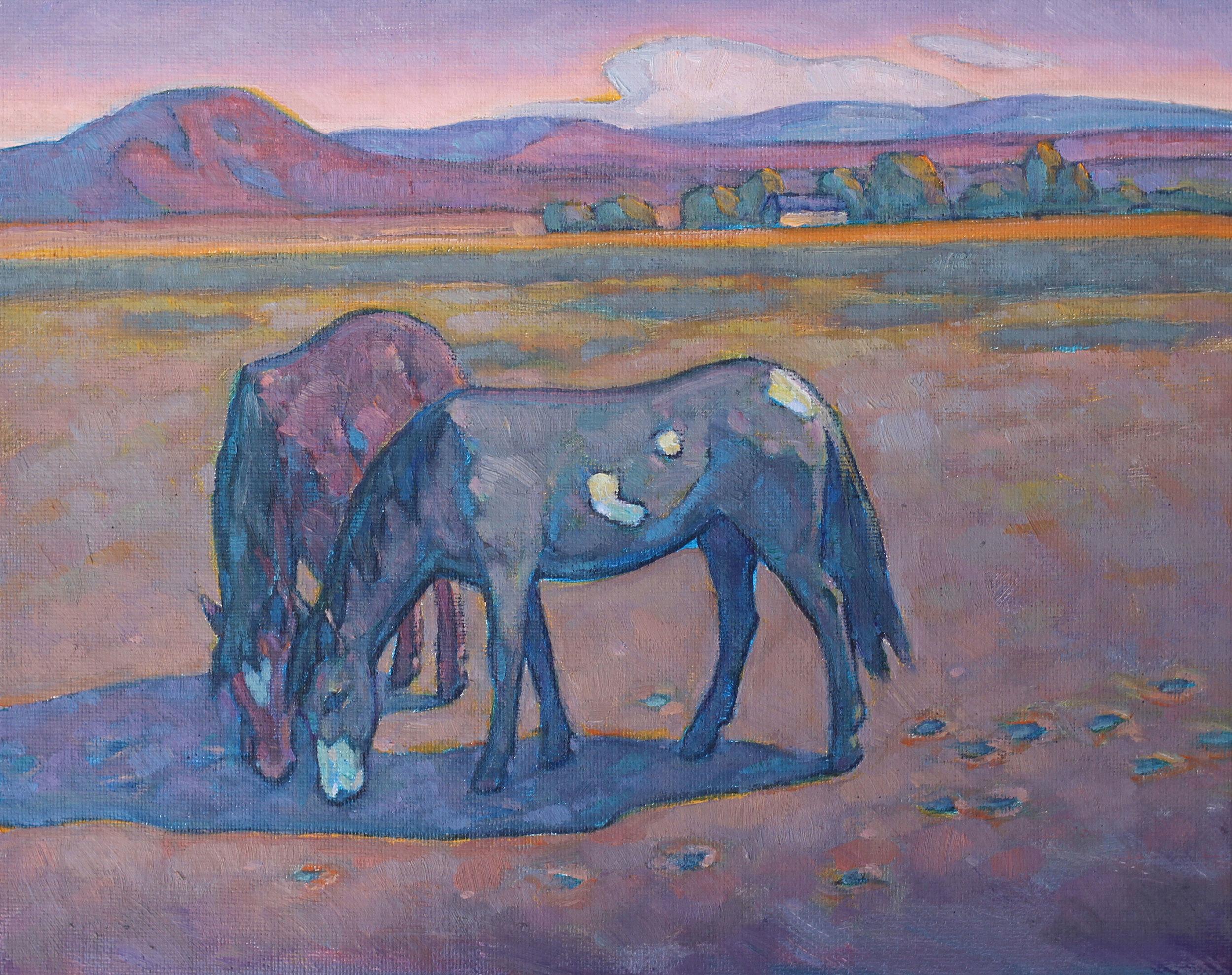 """Howard Post """"Dry Pasture"""" 8″x10″ Oil"""