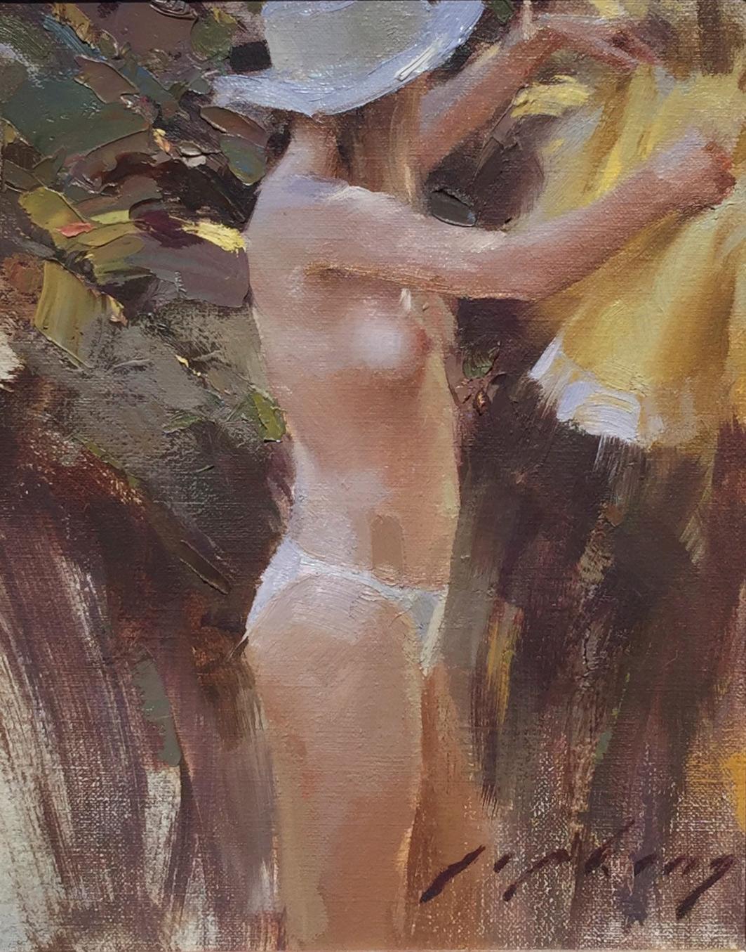 "Jeremy Lipking ""Spring Sunbathing"" 10″x8″ Oil"