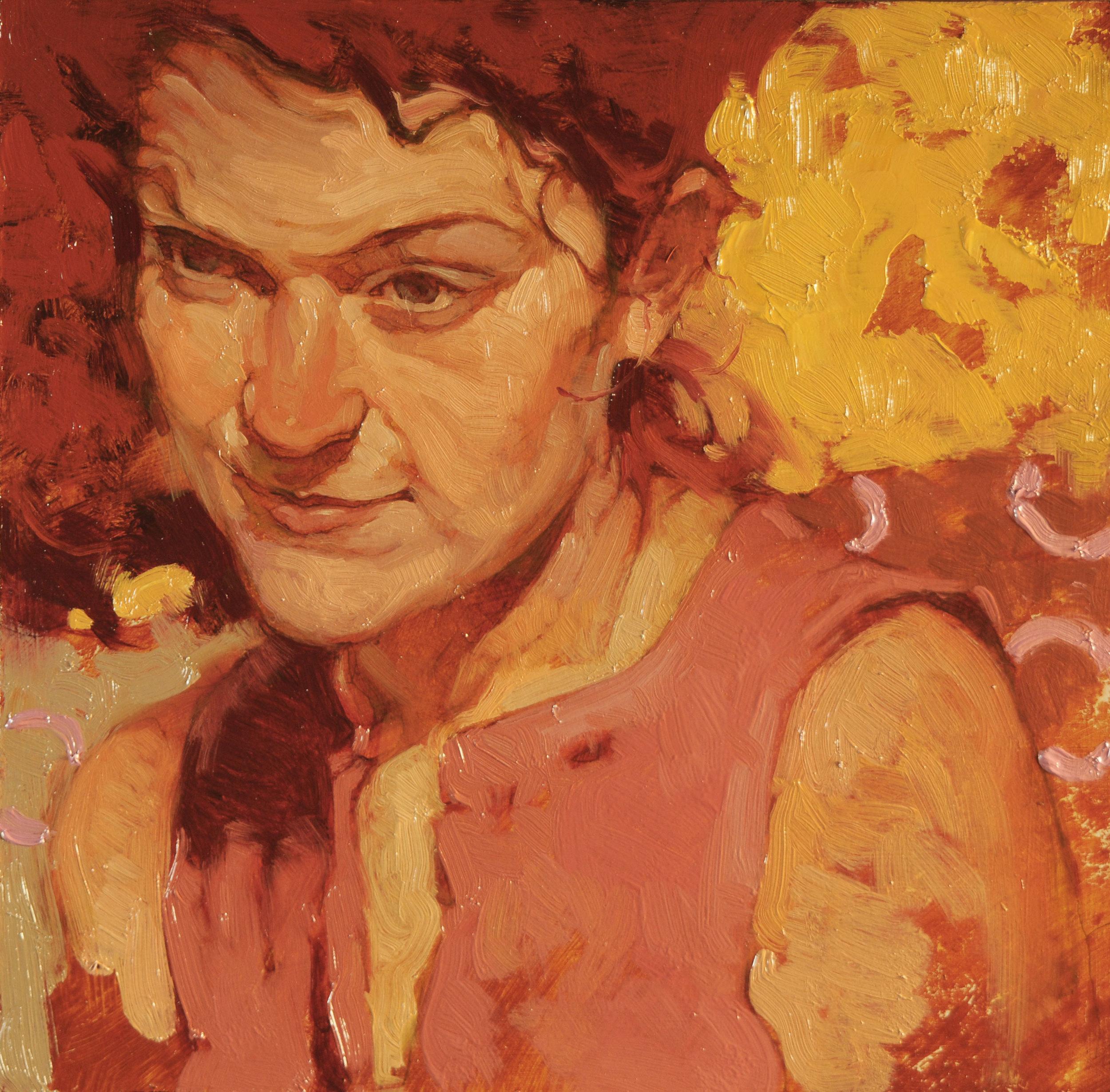 """Joseph Lorusso """"Muse"""" 8″x8"""" Oil"""