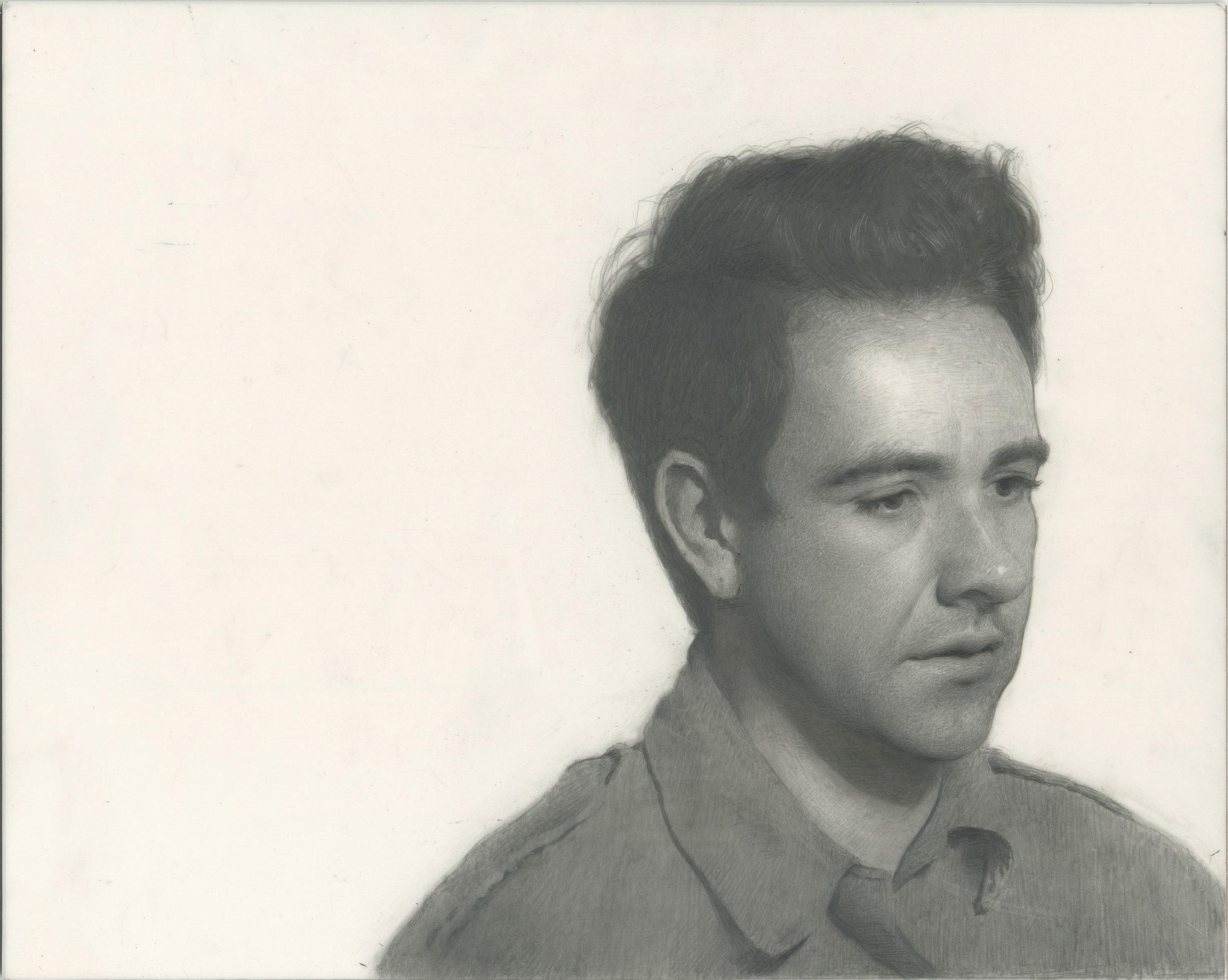 "Richard Morris ""Self Portrait"" 8″x10″ Graphite on Mylar"