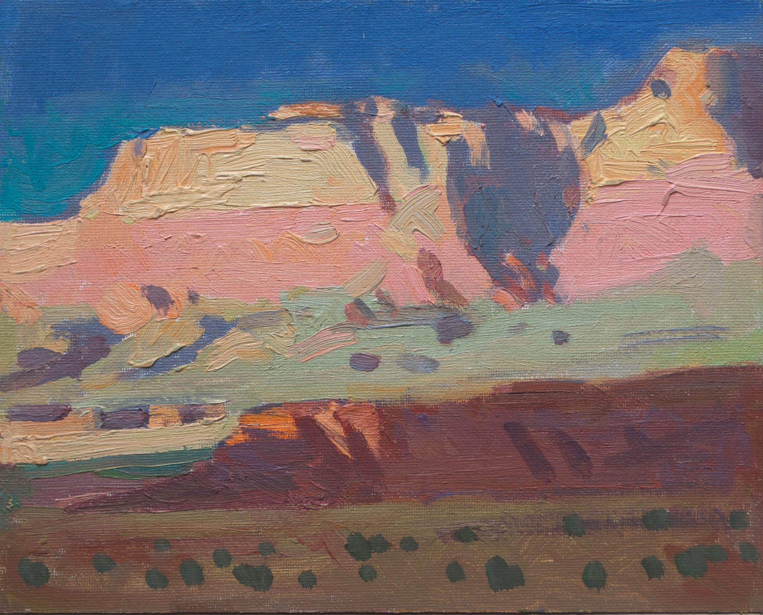 "(SOLD) Ray Roberts ""Vermillion Cliffs, Northern Arizona"" 8″x10″ Oil"