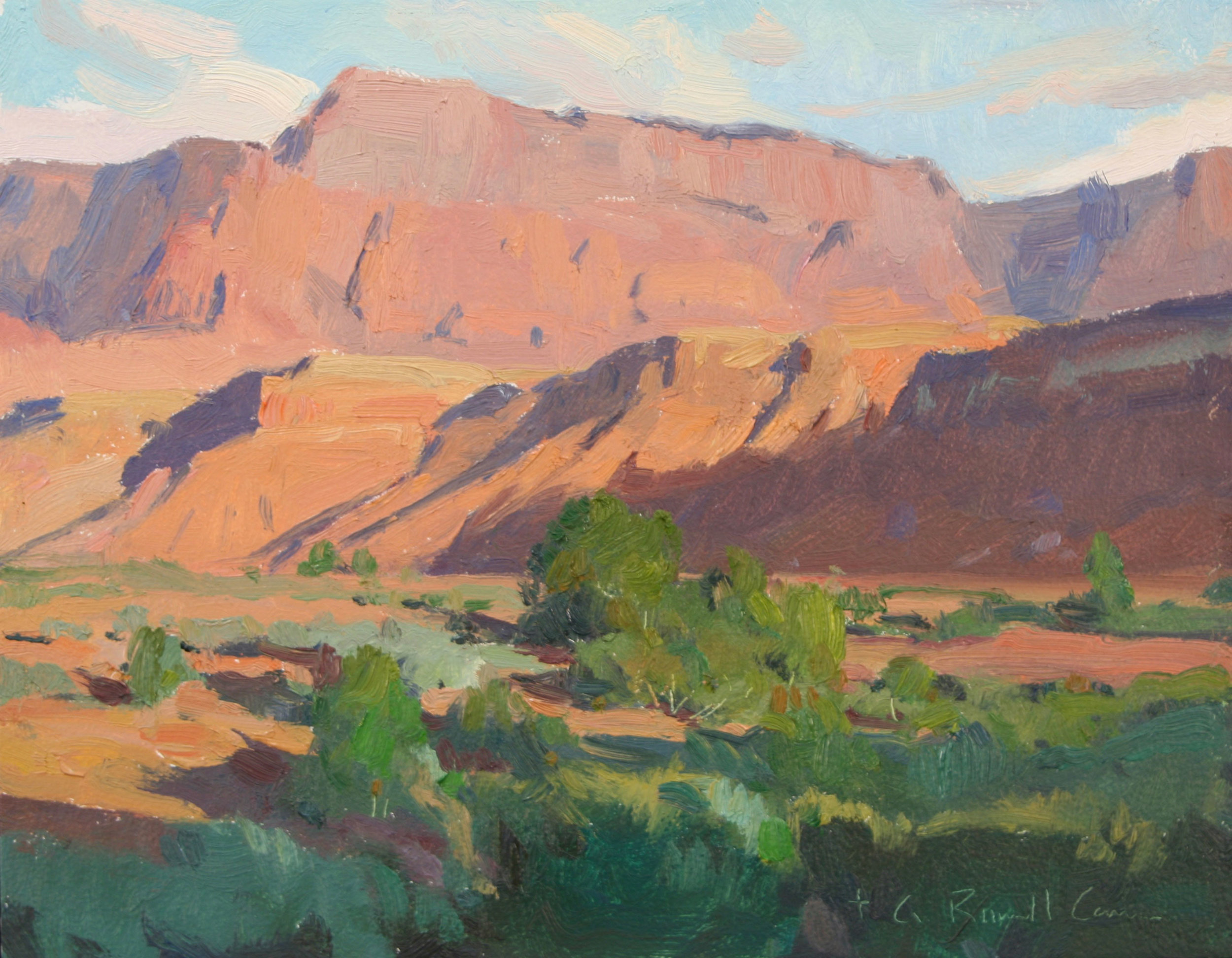 """(SOLD) G. Russell Case """"Morning"""" 8″x10"""" Oil"""