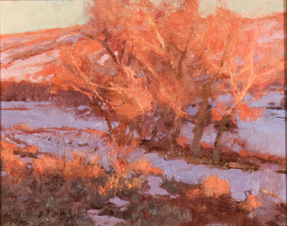 """Grant Redden """"Sundown"""" 8″x10"""" Oil"""