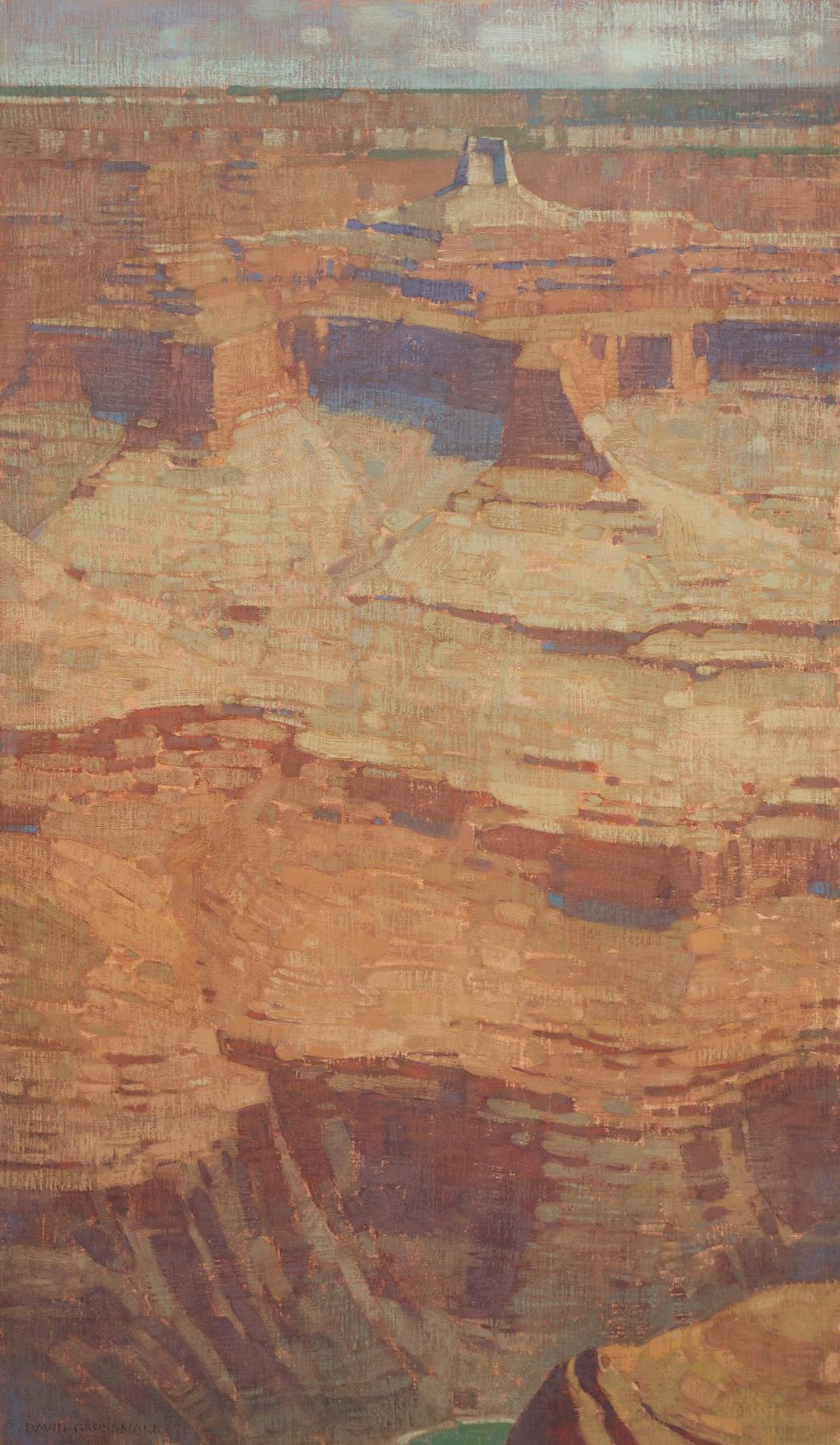"""David Grossmann """"Canyon Heights"""" 34""""x20"""" Oil"""