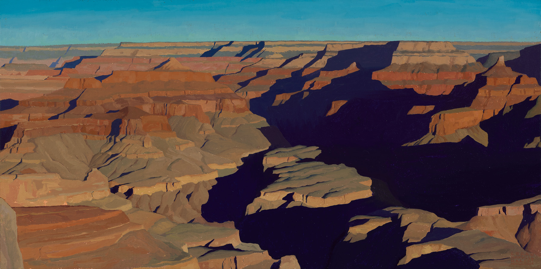 """(SOLD) Logan Maxwell Hagege """"Great Depths"""" 18""""x36"""" Oil"""