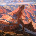 "Bryan Haynes, ""Havasupai–Grand Canyon""oil, 36 x 54."