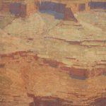 """David Grossmann, """"Canyon Heights""""oil, 34 x 20."""